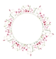 Detailed contour wreath with herbs and wild vector image