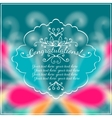 Congratulations Text on Blurred background with vector image
