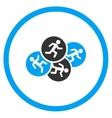 Running Men Circled Icon vector image