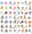 big set of cats vector image