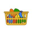 laundry basket vector image