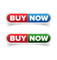 Buy Now button set vector image