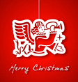 Christmas angel applique background vector image