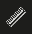 Comb icon isolated on black background vector image