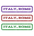 italy rome watermark stamp vector image
