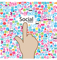 template design Social network light bulb idea vector image