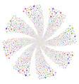 Warning fireworks swirl flower vector image