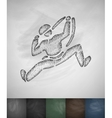 climber icon Hand drawn vector image