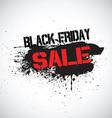 Grunge Black Friday sale background vector image