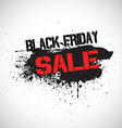 Grunge Black Friday sale background vector image vector image