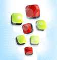 Abstract squares blank background for design vector image vector image