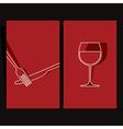 Wine list and menu design vector image vector image