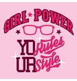 Girl power t-shirt design vector image vector image