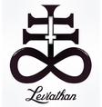 The Satanic Cross symbol illsutration vector image