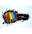 Background with tv vector image vector image