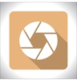 Aperture icon vector image
