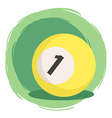 Billiard Ball Number 1 Yellow vector image