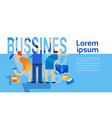 business concept successful strategy planning vector image