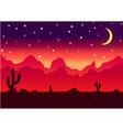 Desert parallax background night vector image