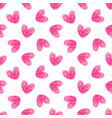 heart hand drawn seamless pattern vector image
