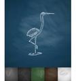 heron icon Hand drawn vector image