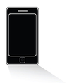 mobile phone icon black vector image