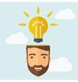 New bright idea vector image