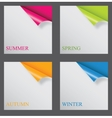 Papers with different corner and place for your vector image