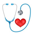 realistic stethoscope isolated medical vector image