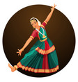 Solo dance performed by girl with hindi vector image