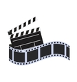 film strip cinema movie design vector image
