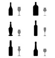 glasses and bottles vector image