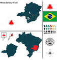 Map of Minas Gerais vector image