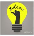 ideas concepts creative sign vector image