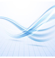 Speed blue swoosh data lines background vector image