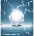 glass ball and lightning vector image