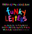 ABC alphabet funky letters children fun colorful vector image