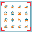 car service icons - in a frame series vector image vector image