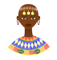 Native African woman with traditional jewelry vector image vector image