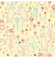 Bright childish seamless pattern with animals vector image