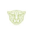 Cheetah Head Mono Line vector image