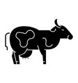 cow icon sign on isolate vector image