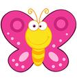 Cute Butterfly Cartoon Mascot Character vector image