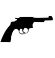 Gun silhouette vector image
