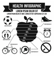 Health infographic simple style vector image
