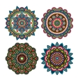 Meditation round ornaments vector image