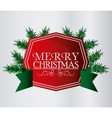merry christmas label design vector image