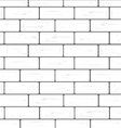 white brick wall background vector image