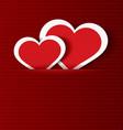 Paper hearts in pocket textured vector image vector image