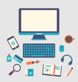 creative office workspace workplace of a designer vector image